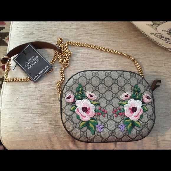 8ea234d3a Gucci Bags | Very Rare Garden Gg Supreme Mini Chain Bag | Poshmark